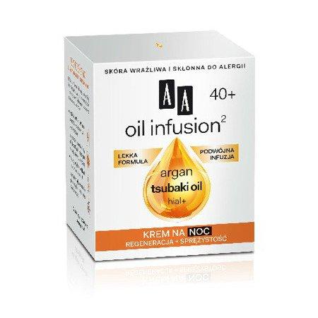 AA - Oil Infusion2 40+ - KREM regenerujący i dodający sprężystości na NOC, 50 ml.