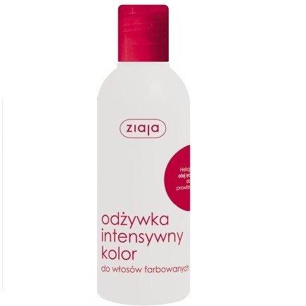 Ziaja - Intensywna pielęgnacja włosów - ODŻYWKA do włosów farbowanych z olejem rycynowym bez spłukiwania, 200 ml.