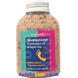 Nivelazione - SÓL Cynamonowa, rozgrzewająca do kąpieli stóp, 600 g.