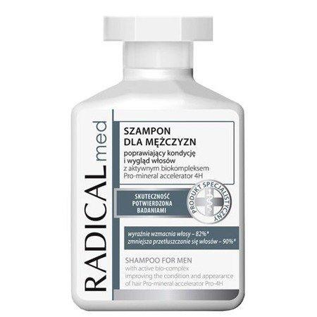 Radical Med - SZAMPON dla mężczyzn, poprawia kondycję i wygląd włosów, 300 ml.