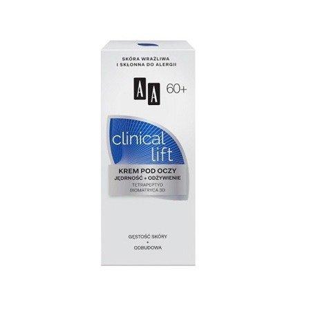 AA - Clinical Lift 60+ - KREM odżywczo-wzmacniający pod oczy, 15 ml.