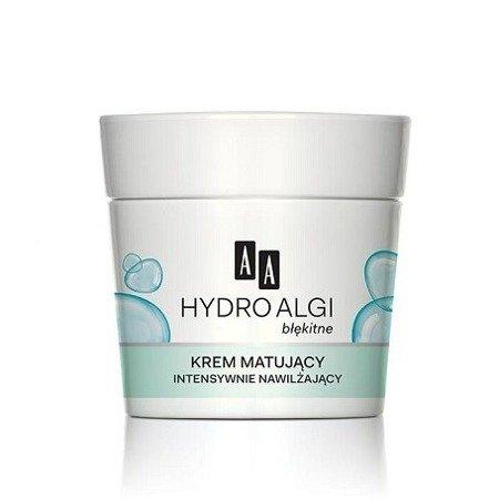 AA - Hydro Algi Błękitne - KREM matujący intensywnie nawilżający do cery mieszanej i normalnej na DZIEŃ i NOC, 50 ml.
