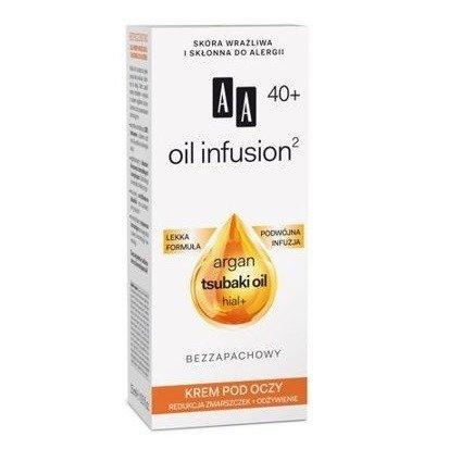 AA - Oil Infusion2 40+ - KREM pod oczy redukujący zmarszczki i odżywiający, 15 ml.