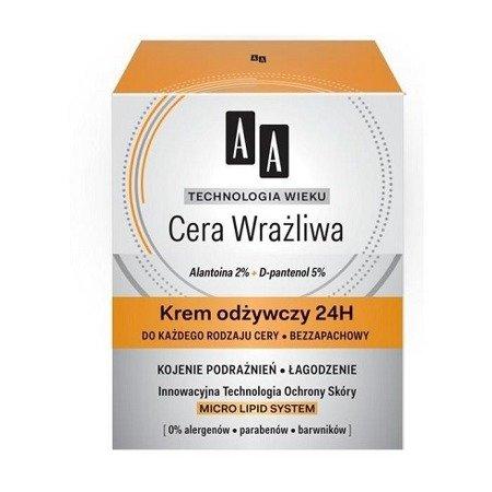 AA - Technologia Wieku, Cera Wrażliwa - KREM odżywczy na DZIEŃ i NOC, 50 ml.