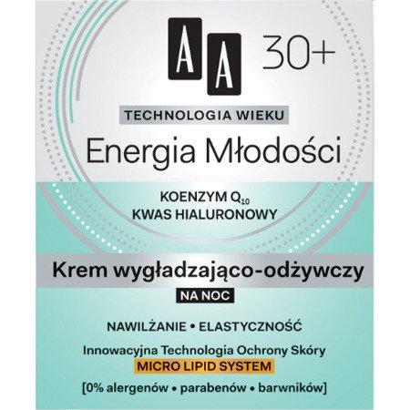 AA - Technologia Wieku, Energia młodości 30+ - KREM wygładzająco-odżywczy na NOC, 50 ml.