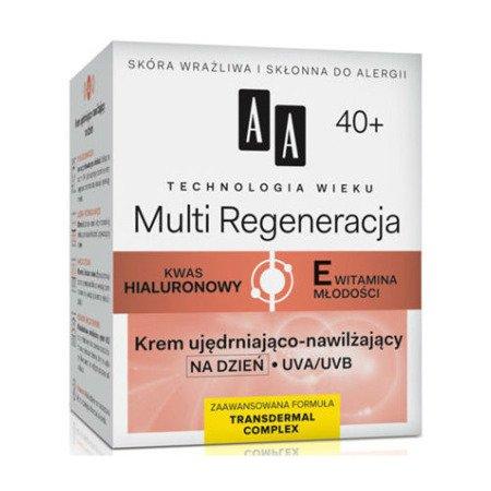 AA - Technologia Wieku, Multi Regeneracja 40+ - KREM ujędrniająco-nawilżający na DZIEŃ, 50 ml.