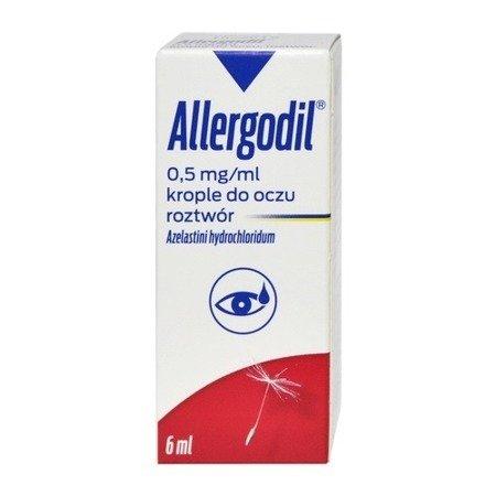 Allergodil - KROPLE przeciwalergiczne oczu, 6 ml.