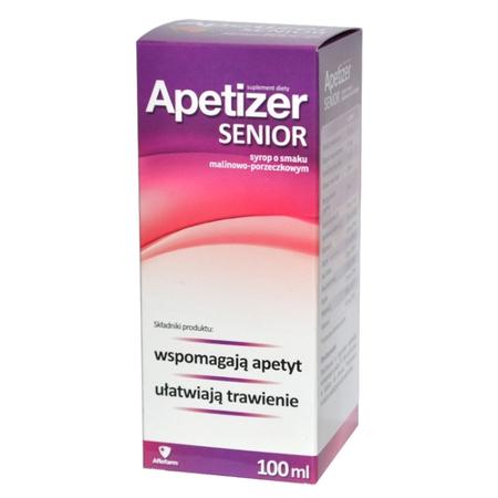 Apetizer Senior - SYROP malinowo-porzeczkowym, 100 ml.