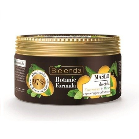 Bielenda Botanic Formula Cytrynowiec+Mięta, MASŁO do ciała, 250 ml.