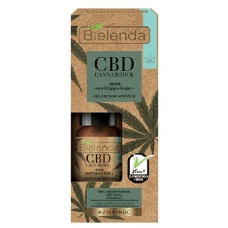 Bielenda CBD Cannabidiol, OLEJEK Nawilżająco-Kojący na DZIEŃ i NOC, 15 ml