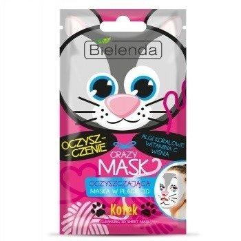 Bielenda Crazy Maski, oczyszczająca MASECZKA w płacie 3D, 1 szt.