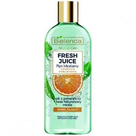 Bielenda Fresh Juice, PŁYN micelarny, pomarańczowy, 500 ml.