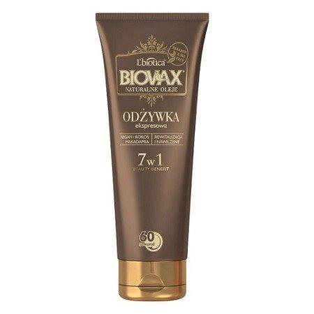 Biovax - BB Beauty Benefit, Odżywka Pielęgnacyjna do włosów, Naturalne Oleje - Makadamia, Argan, Kokos, 200 ml.
