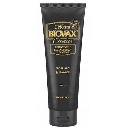 Biovax Glamour CAVIAR - SZAMPON intensywnie regenerujący do włosów ze złotymi algami i kawiorem, 200 ml.