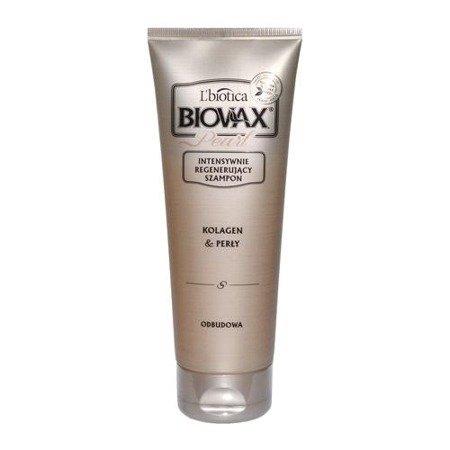 Biovax Glamour PEARL - SZAMPON intensywnie regenerujący do włosów z perłami i kolagenem, 200 ml.