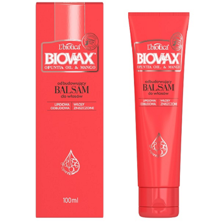 Biovax - Opuntia Oil & Mango - BALSAM do włosów, 100 ml.