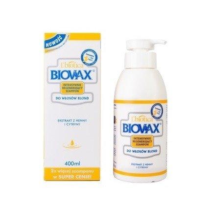 Biovax - SZAMPON intensywnie regenerująca do włosów blond, 400 ml.