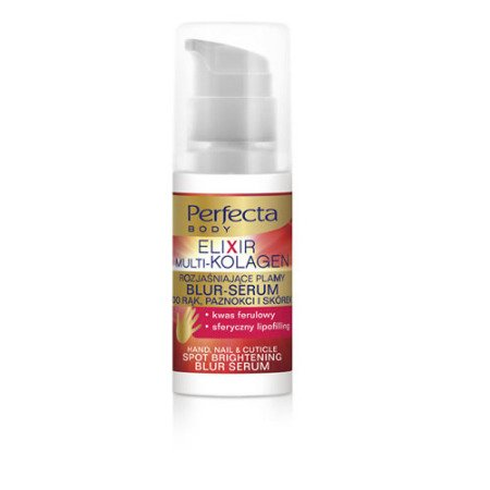 DAX - Perfecta BODY - Elixir Multi-Kolagen, rozjaśniające plamy BLUR-SERUM do rąk, paznokci i skórek, 30 ml.