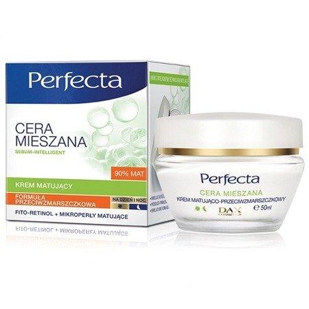 DAX - Perfecta, Cera Mieszana - KREM przeciwzmarszczkowy z matującymi mikro-perłami do cery dojrzałej i mieszanej na DZIEŃ i NOC, 50 ml.