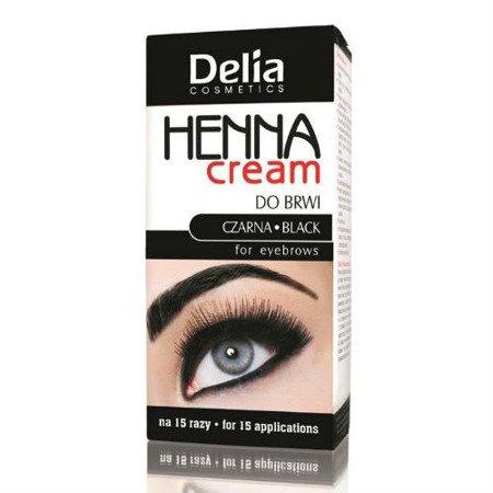 Delia - HENNA cream do brwi CZARNA, 15+15 ml.