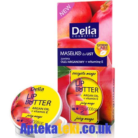 Delia, Masełko do ust, 2,5 g.  Soczyste Mango.