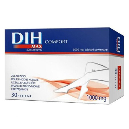 Dih MAX Comfort - Diosmina 1000 mg. 30 tabletek.