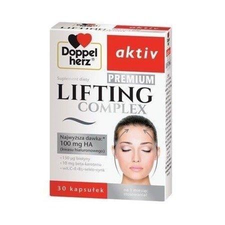 Doppelherz Aktiv - Lifting Complex PREMIUM, 100 mg. kwasu hialuronowego, 30 kapsułek.