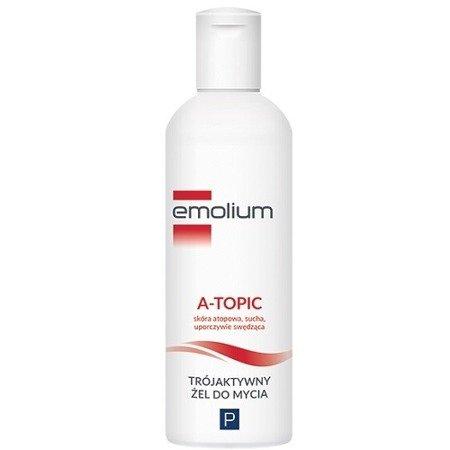 Emolium A-Topic - trójaktywny żel do mycia, 200 ml.