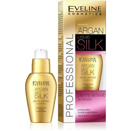 Eveline – Argan PROFFESIONAL – Płynny jedwab do włosów 8w1, 37 ml.