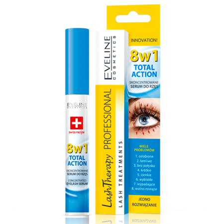 Eveline Lash Therapy Professional 8w1 - skoncentrowane serum do rzęs, 10 ml