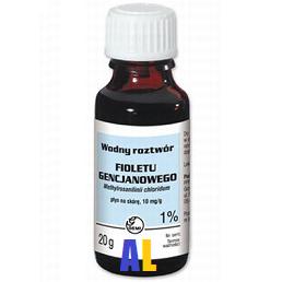 Fiolet gencjanowy - ROZTWÓR wodny 1%, 15 ml.