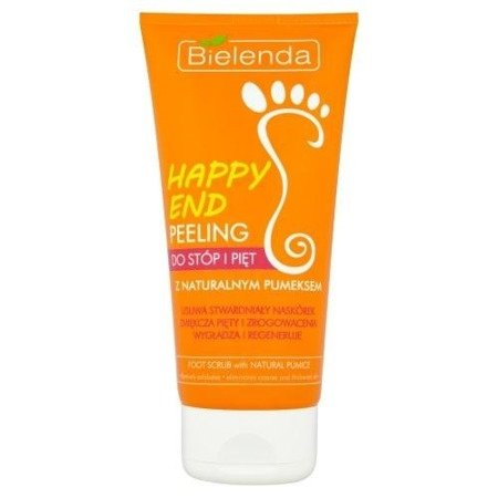 Happy End - PEELING do stóp i pięt z naturalnym pumeksem, 125 ml.