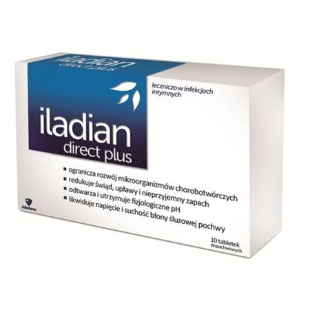 Iladian Direct Plus, 10 kapsułek.dopochwowych.