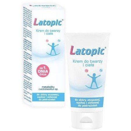 Latopic - KREM do twarzy i ciała od 1 dni życia, 75 ml.