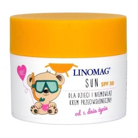 Linomag Sun - KREM dla dzieci z filtrem SPF-30, 50 ml.(Ziołolek)