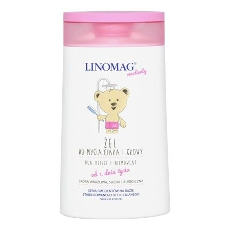 Linomag, Żel do mycia ciała i głowy, 200 ml.