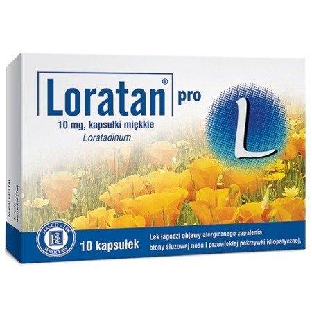 Loratan Pro - Loratadyna 10 mg. 10 tabletek.