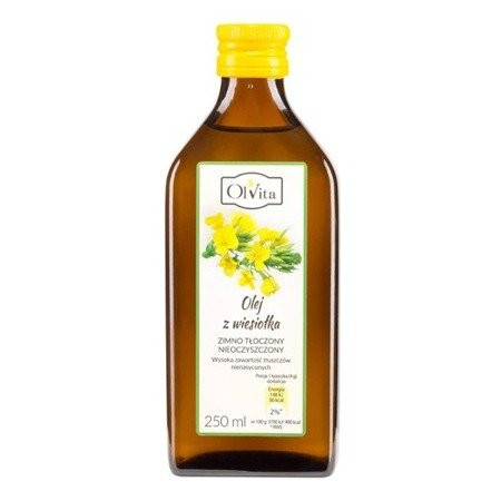 Olej z Wiesiołka - Tłoczony na zimno, 250 ml. Olvita