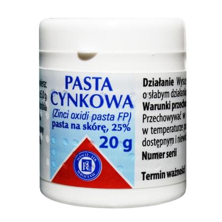 Pasta cynkowa, 20 g.