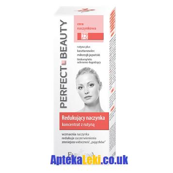 Perfect Beauty Anti Rednes - KONCENTRAT obkurczający naczynka z rutyną, wzmacnia naczynka i redukuje zaczerwienienia, 20 ml.