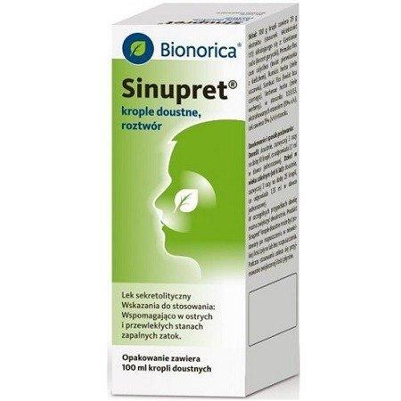 Sinupret - KROPLE, 100 ml.