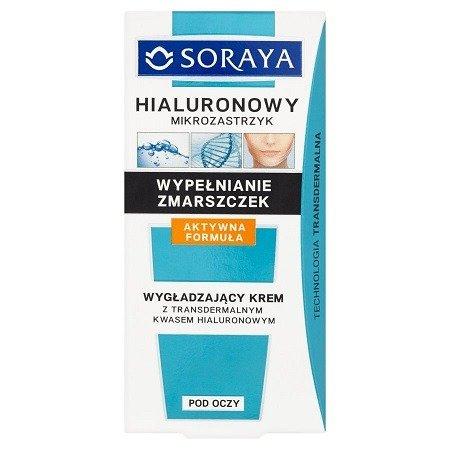 Soraya - Hialuronowy Mikrozastrzyk - KREM wygładzający pod oczy z kwasem hialuronowym, 15 ml.