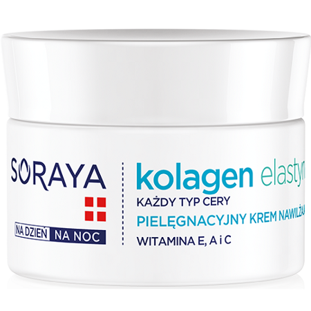 Soraya - Kolagen Elastyna - pielęgnacyjny krem nawilżający na DZIEŃ i NOC, 50 ml.