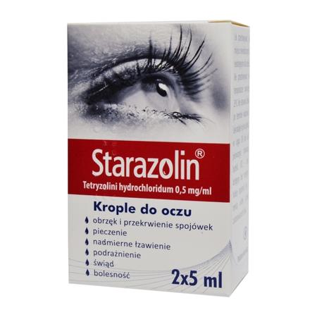 Starazolin 0,5 mg/ml. KROPLE do oczu, 10 ml.