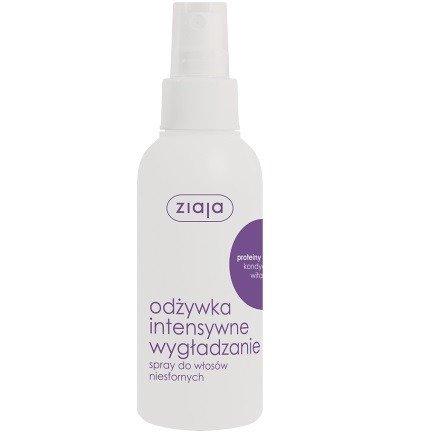 Ziaja - Intensywna pielęgnacja włosów - ODŻYWKA wygładzająca w sprayu z proteinami jedwabiu do włosów niesfornych, 125 ml.