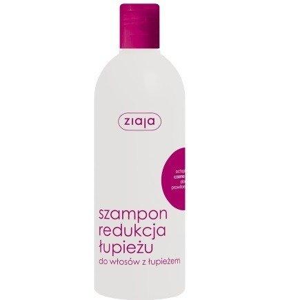 Ziaja - Intensywna pielęgnacja włosów - SZAMPON z wyciągiem z czarnej rzepy redukujący łupież, 400 ml.