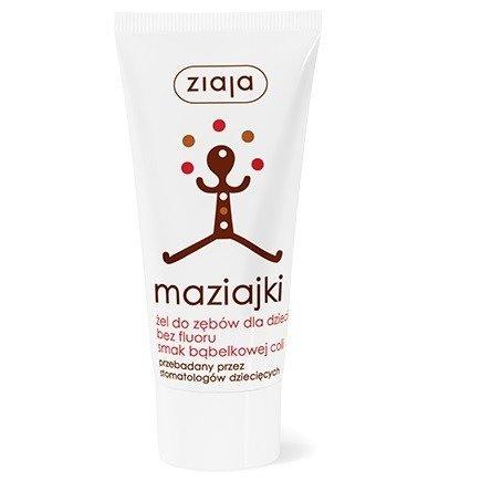 Ziaja - Maziajki - ŻEL do zębów nie zawierający fluoru o smaku Coli, 50 ml.