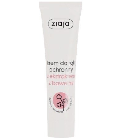 Ziaja - Pielęgnacja rąk - KREM do rąk ochronny z ekstraktem z bawełny, 100 ml.