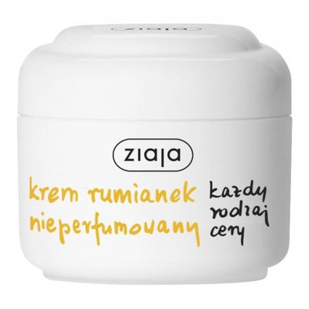 Ziaja - Rumiankowa - KREM nieperfumowany do każdego rodzaju cery, nawilża, wygładza i łagodzi podrażnienia, 50 ml.