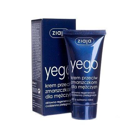 Ziaja - Yego - KREM przeciwzmarszczkowy dla mężczyzn, 50 ml.